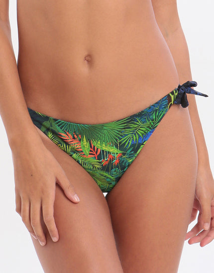 Banana Moon Junglepalm Boa Reversible Tie Bikini Bottom - Green