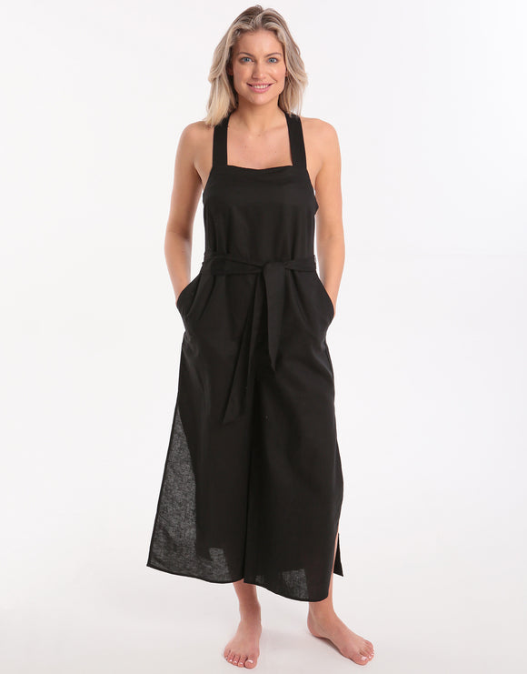 Seafolly Cross Back Jumpsuit - Black