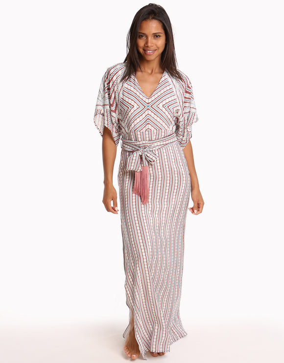 Paolita Kito Silk Maxi Dress - Print