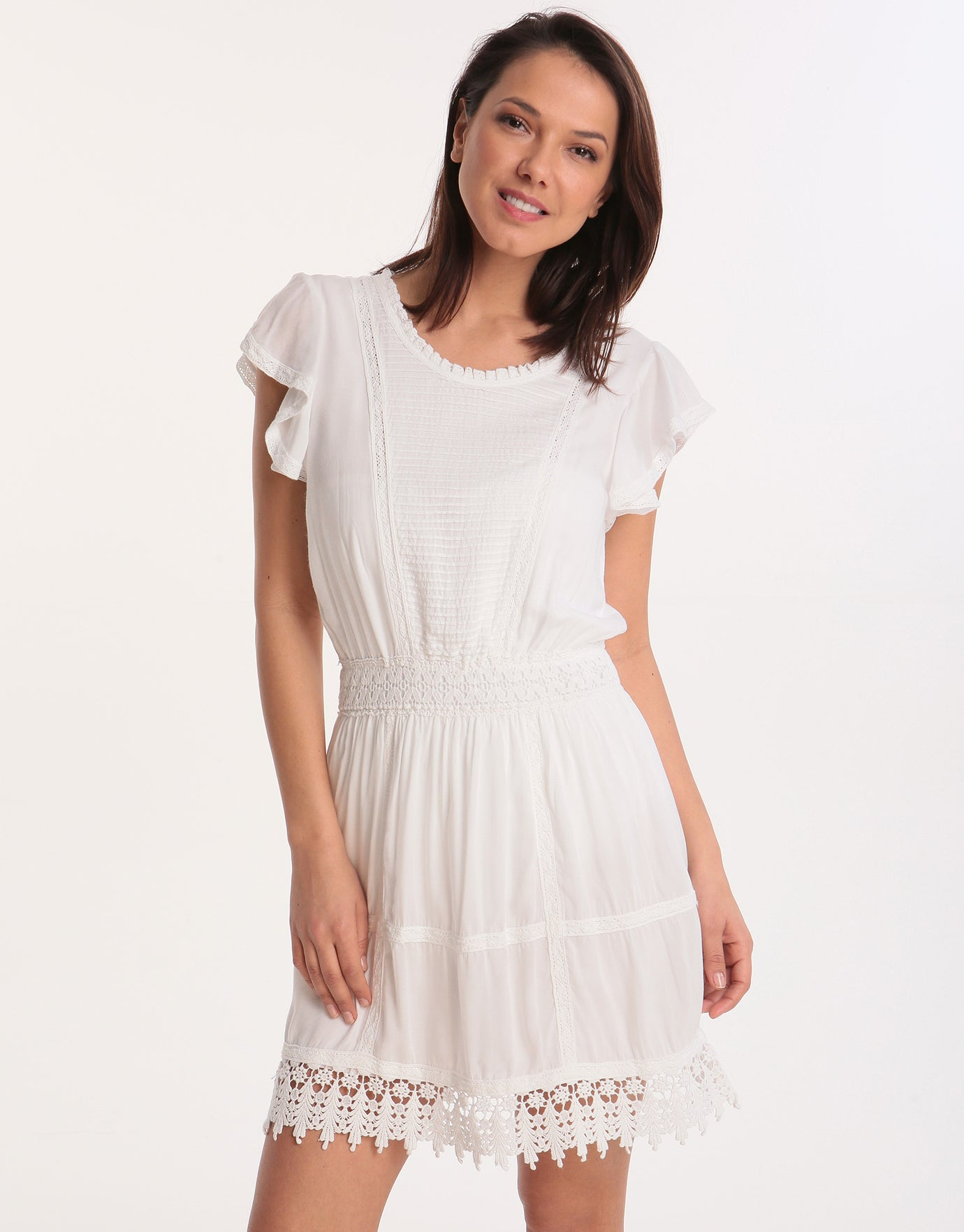 Melissa Odabash Loretta Mini Dress  - White