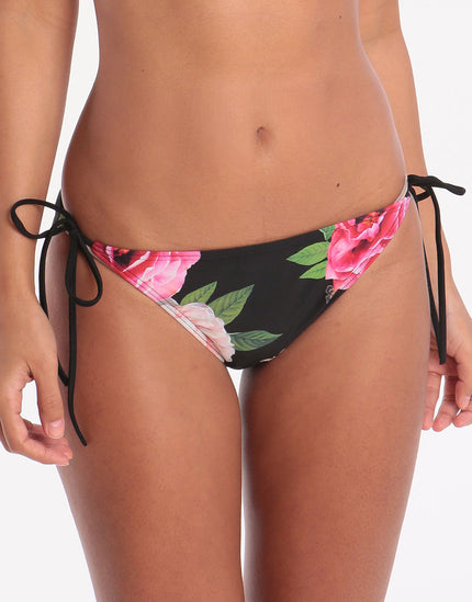 Ted Baker Magnificent Tie Side Bikini Bottom - Black