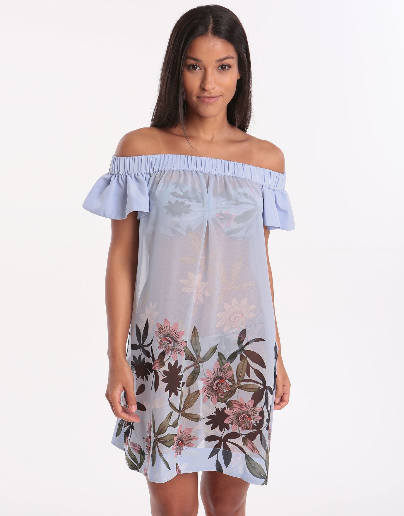a3f4df77 Ted Baker Illusion Off Shoulder Dress - Blue | Simply Beach UK