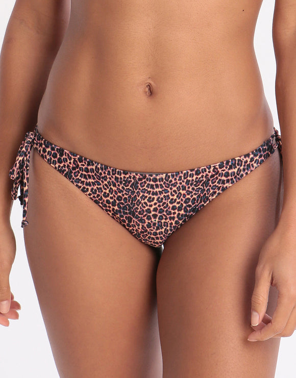 West Seventy Nine Wildcat Tie Side Bikini Bottom - Animal