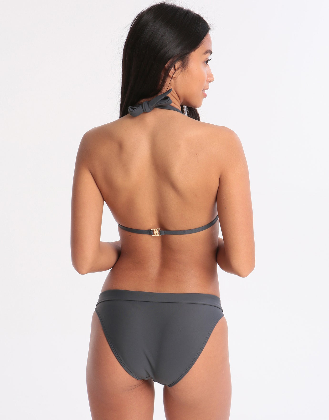 West Seventy Nine Banded Bikini Bottom - Anthracite