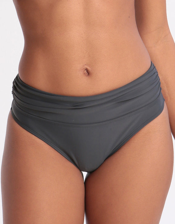 West Seventy Nine Roll Top Bikini Bottom - Anthracite