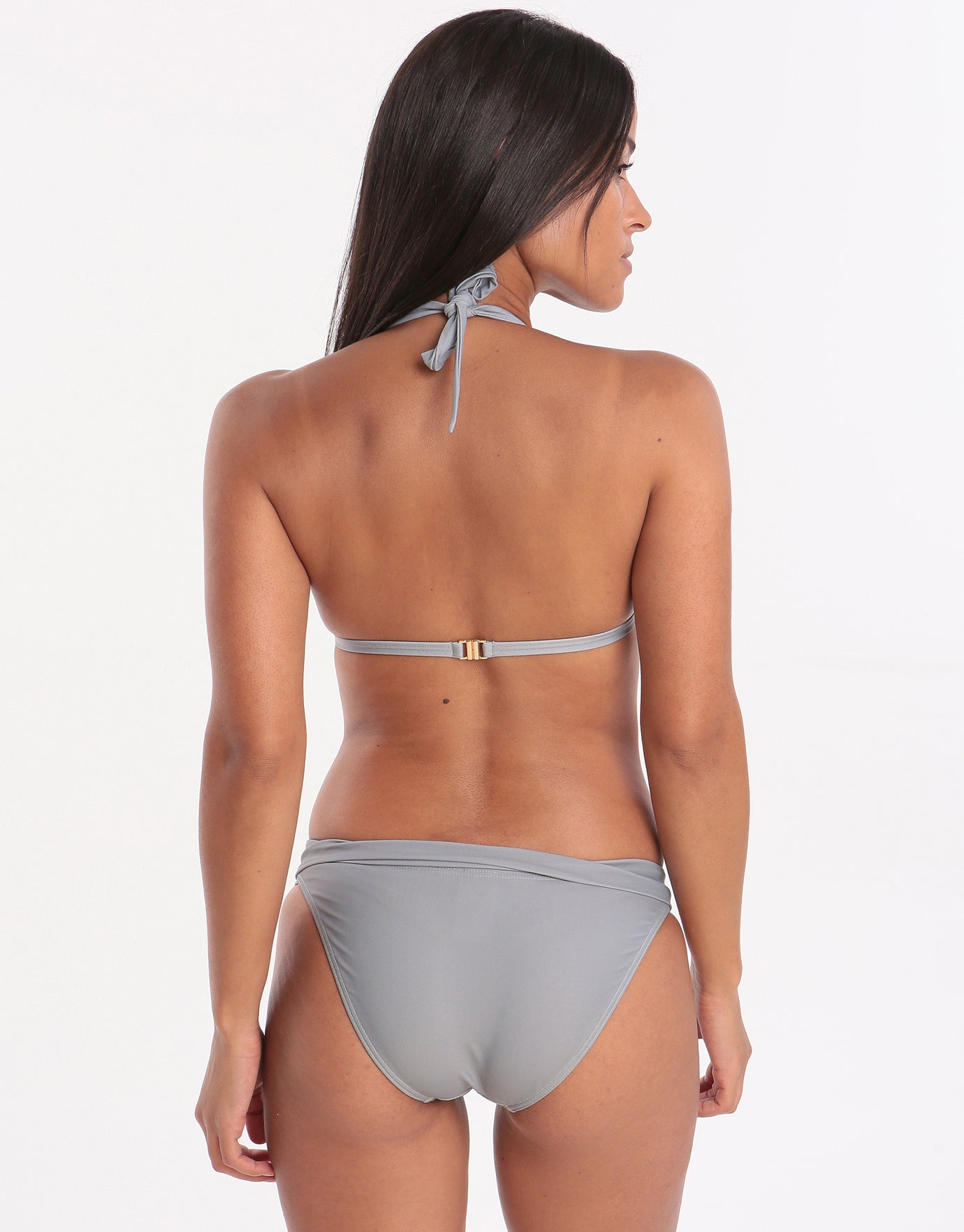 West Seventy Nine Triangle Bikini Top - Shadow