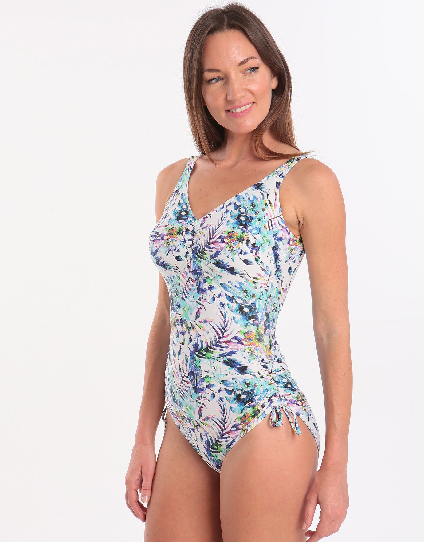 Fantasie Fiji UW V Neck Adjustable Leg Swimsuit - Multi
