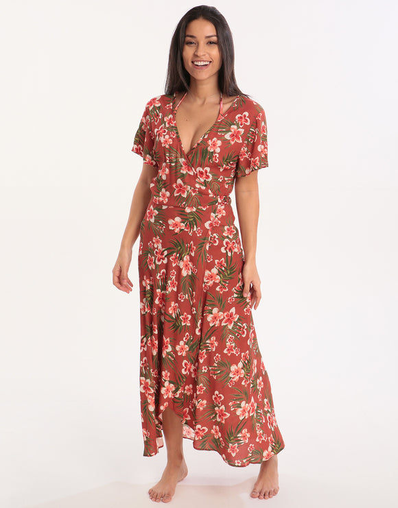 Banana Moon Nerika Gulia Wrap Dress - Mahogany