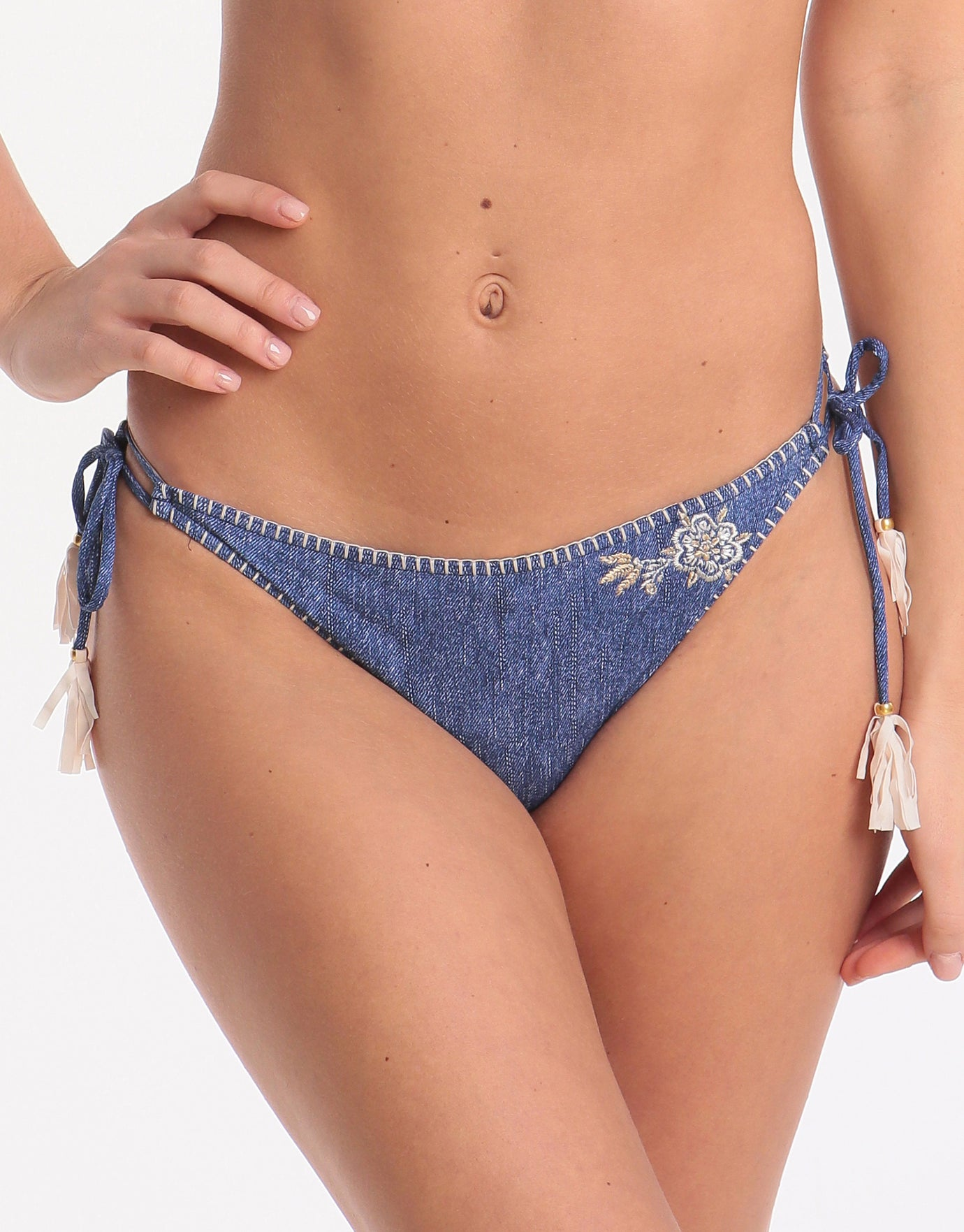 Banana Moon Flashback Avora Tie Bikini Bottom - Indigo