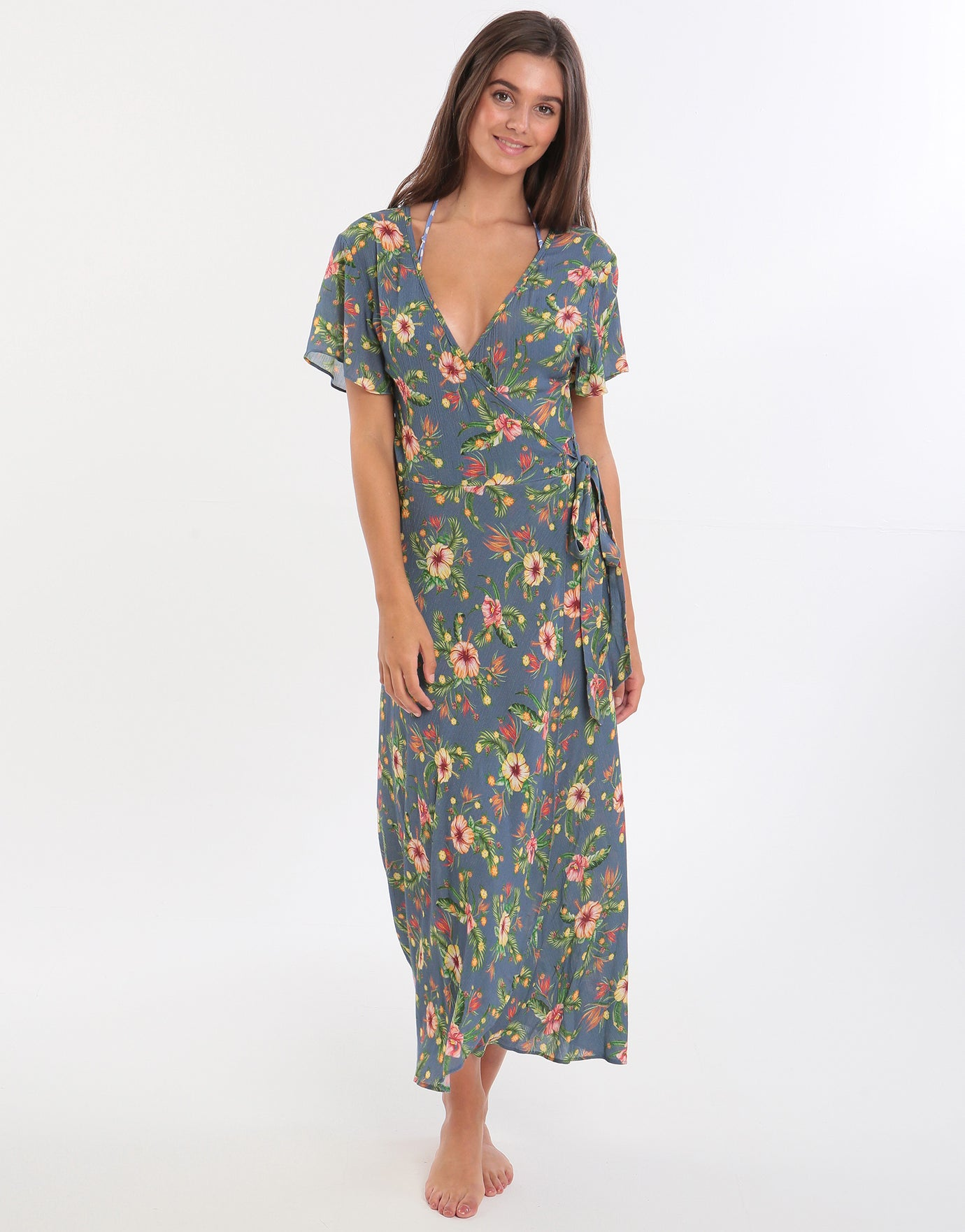Banana Moon Alanea Gulia Wrap Dress - Blue
