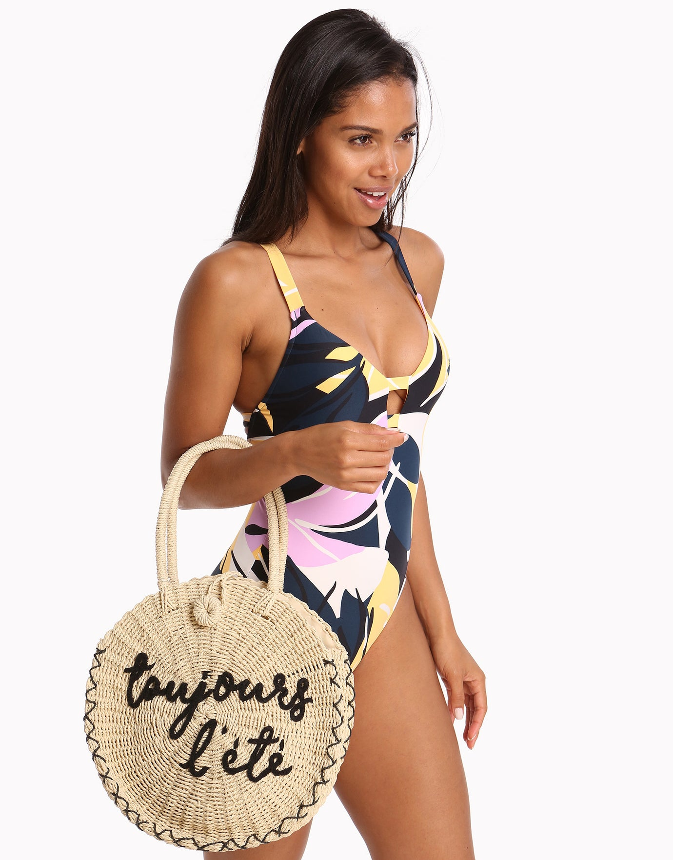 Seafolly Carried Away Always Summer Round Beach Bag - Natural