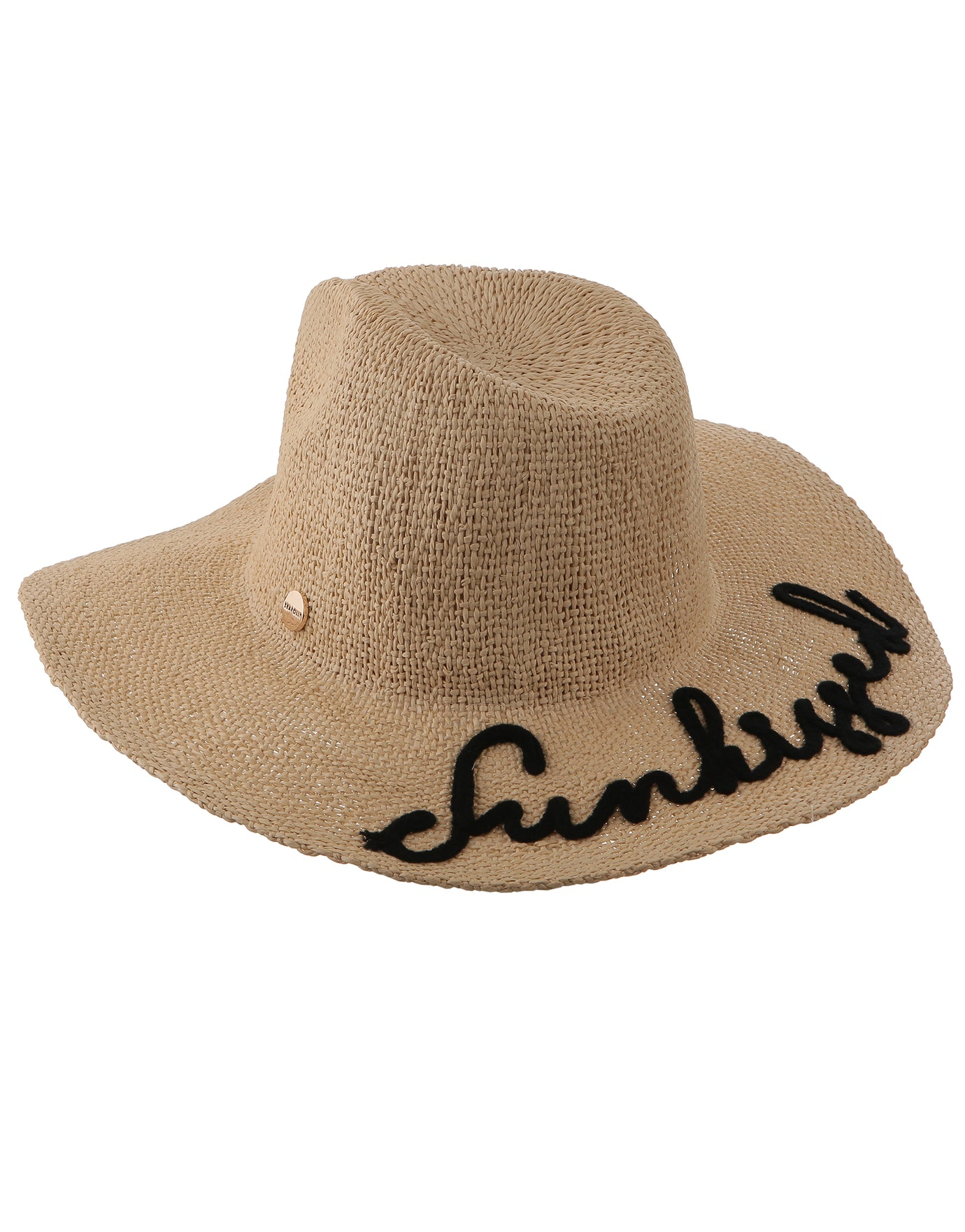Seafolly Shady Lady Sunkissed Embroidered Fedora Hat - Natural