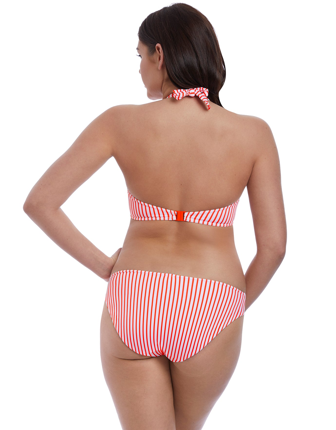 Freya Totally Stripe Bikini Bottom - Flame