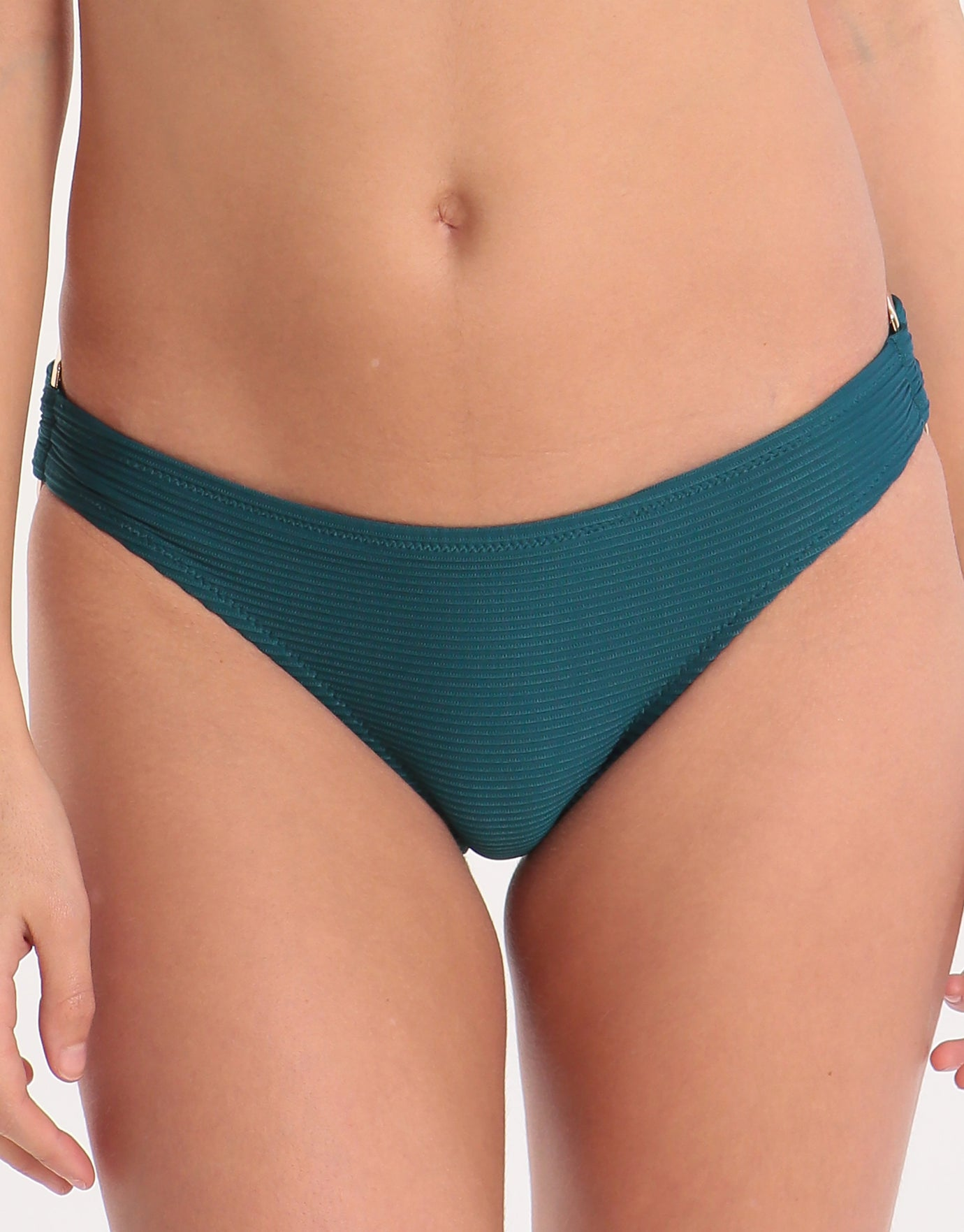 Heidi Klein Ubud Rectangle Bikini Bottom - Teal