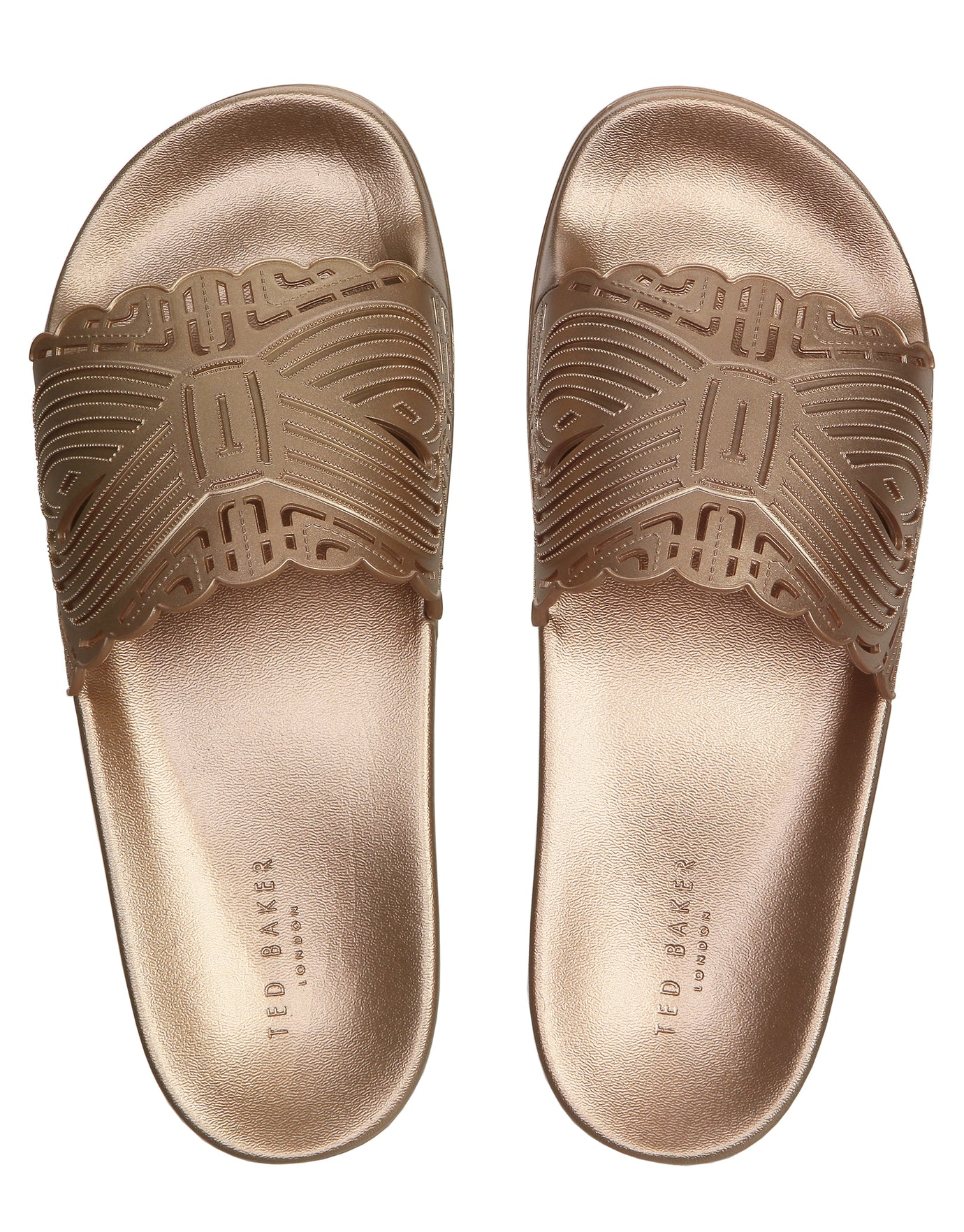 Ted Baker Missley Sliders - Rose Gold