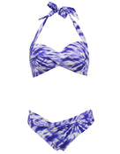 Seafolly Beach Break Twisted Soft Cup Halter Bikini Top - Dazzling Blue
