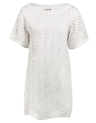 Maryan Mehlhorn Momentum Sequin Beach Dress - Sugar White