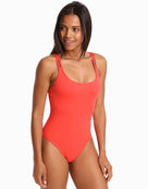 Jets Jetset Double Strap Swimsuit - Flamingo