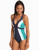 Jets Revolve D/DD Plunge Swimsuit -  Ink /Amazon