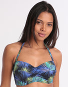 Fantasie Coconut Grove Underwired Twist Bandeau Bikini Top - Ink