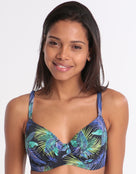 Fantasie Coconut Grove Underwired Gathered Full Cup Bikini Top - Ink