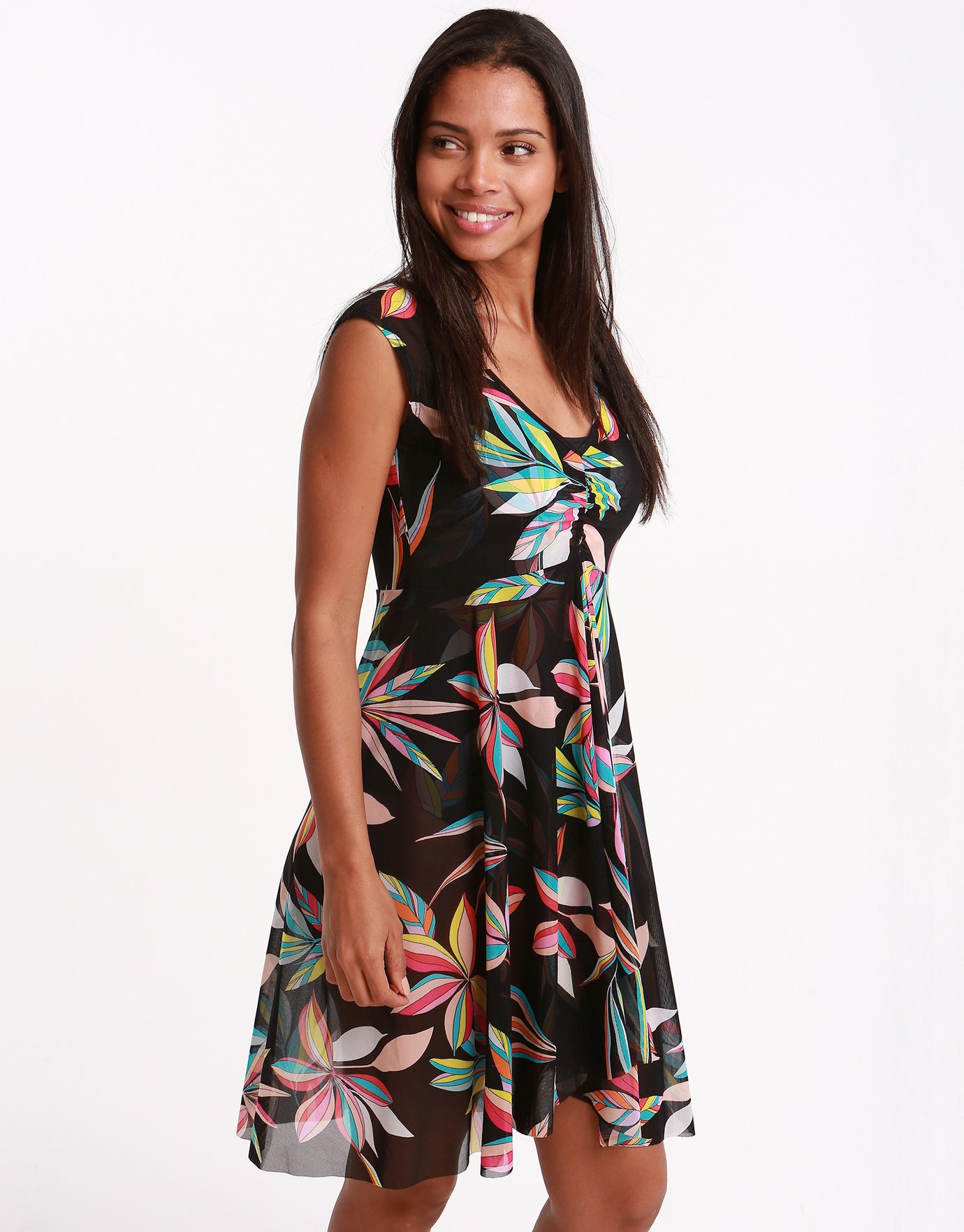 Gottex Profile Paparazzi Mesh Dress - Multi