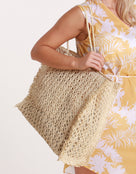 Seafolly Paper Crochet bag  - Natural