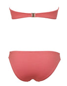 Seafolly Stardust Twist Bandeau Bikini Top - Antique Coral