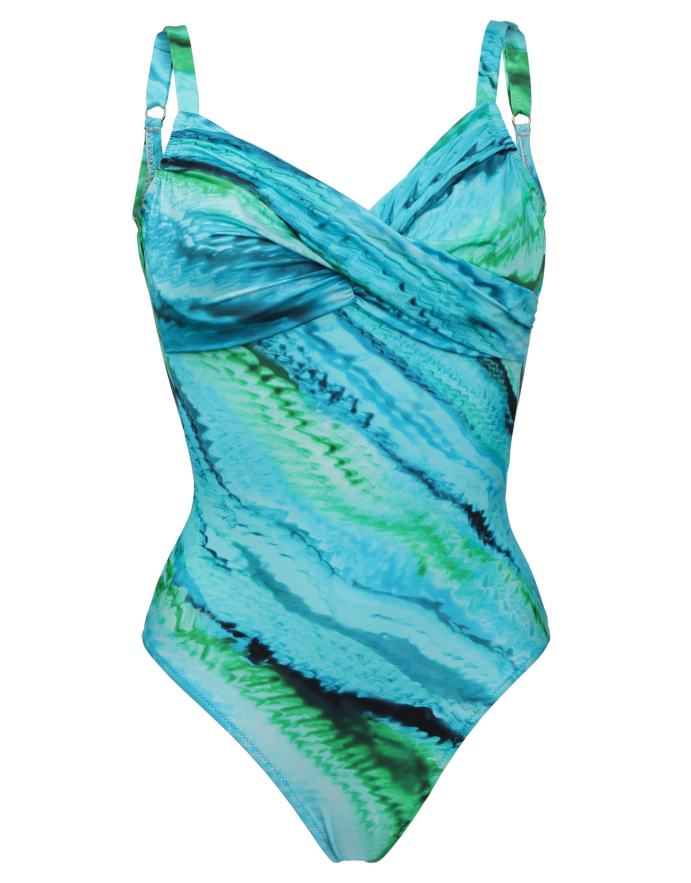 Roidal Oceanic Underwired Crossover Swimsuit - Turquoise