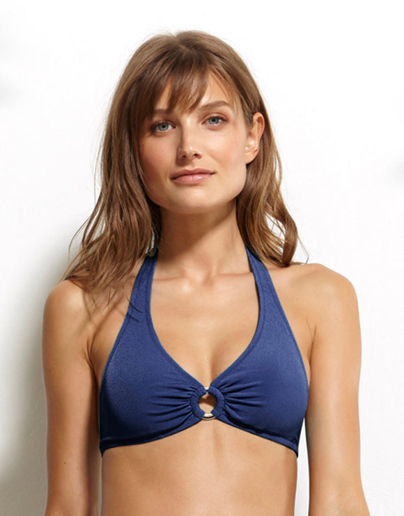Watercult Summer Solids Halter Bikini Top - Indian Ink