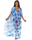 Seaspray Eleanor Maxi Kaftan Dress - Floral