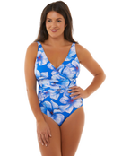 Seaspray Eleanor Bow Detail Swimsuit - Floral