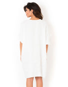 Beachwear Poncho Dress - White