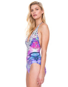Gottex Felicity Halter Swimsuit - Multi Purple