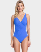 Gottex Lattice Surplice Swimsuit - Sapphire