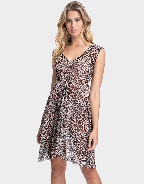 Gottex Profile Wild Thing Mesh Dress - Leopard