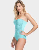 Gottex Profile Moto Bandeau Swimsuit - Sea Foam