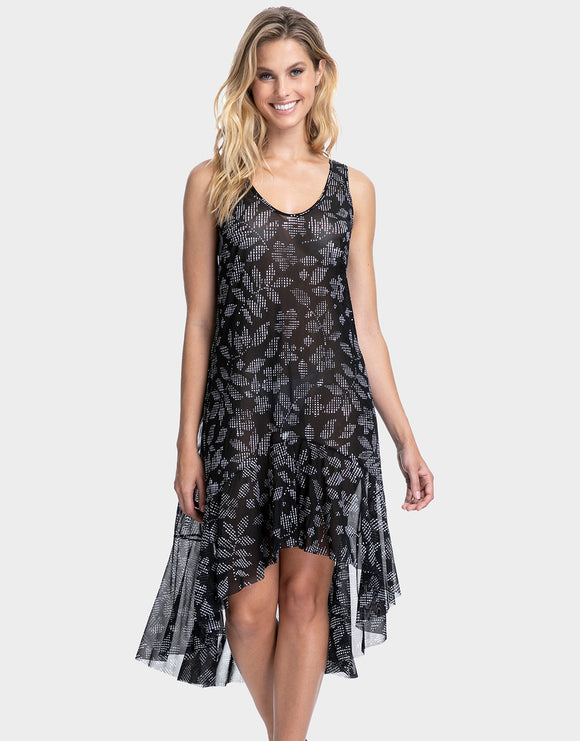 Gottex Profile Pepita Mesh Dress - Black/White
