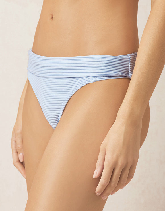 Bora Bora Fold Over Bikini Pant - Light Blue