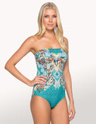 Decorum Bandeau One Piece - Teal