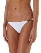 Melissa Odabash Athens Hexagonal Trim Bikini Bottom - White