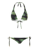 Melissa Odabash Bahamas Gold Chain Bikini Top - Palm Black