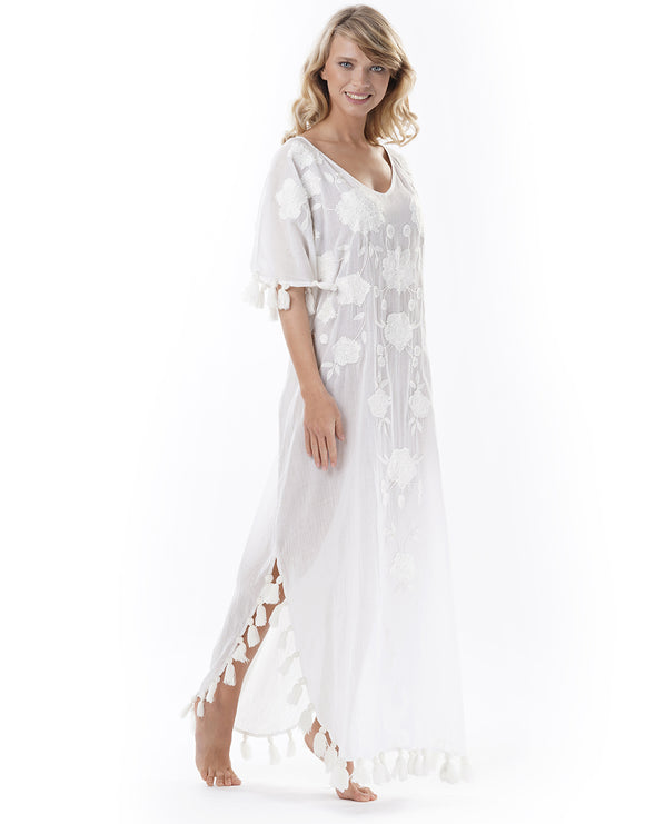 Iconique Odissey Maxi Kaftan - White