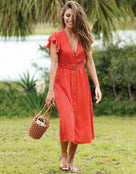 Pia Rossini Dune Dress - Red