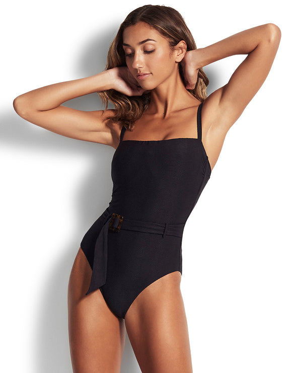 Seafolly Capri Sea DD Swimsuit - Black