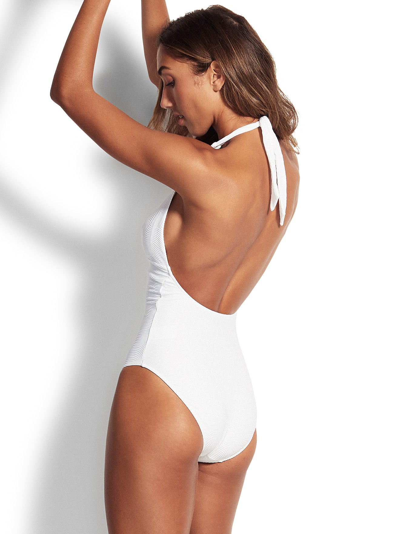 Seafolly Capri Sea Halter Swimsuit - White