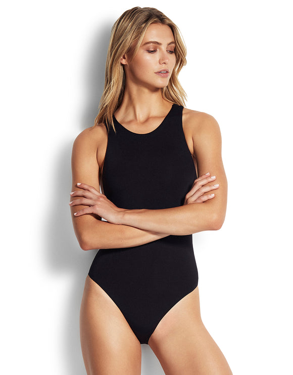 Seafolly Active Action Back Swimsuit - Black