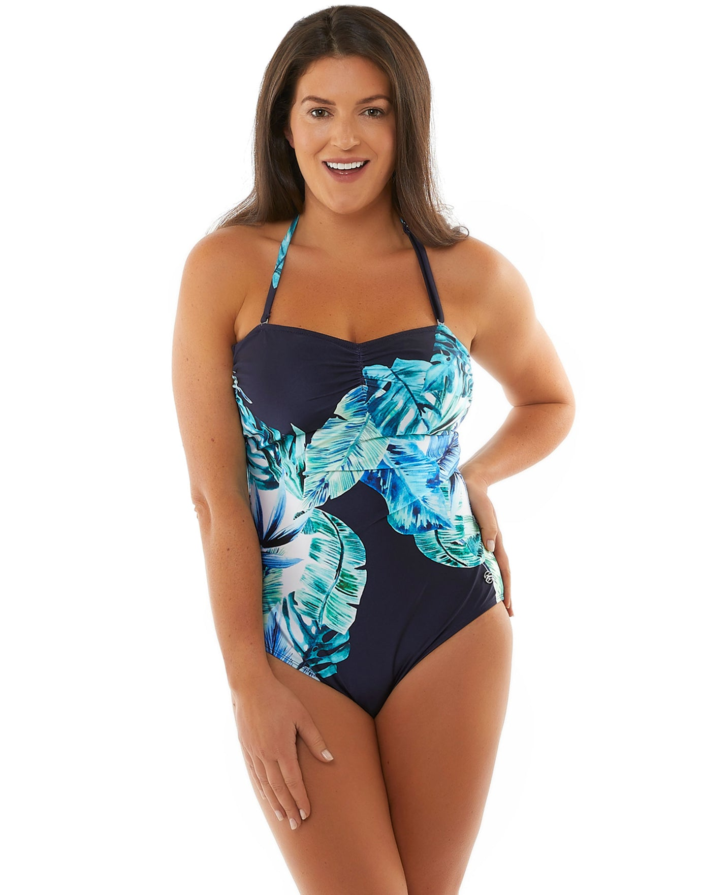Seaspray Emmeline Bandeau Swimsuit- Palm