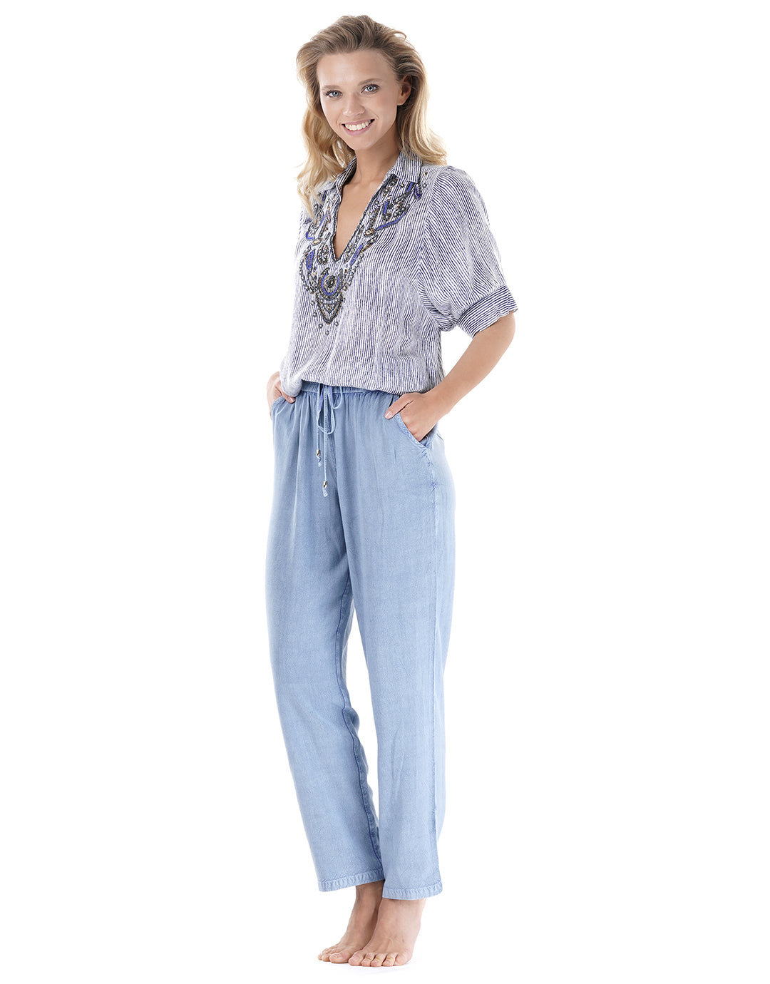Iconique Ibiza Trousers - Tensil Blue