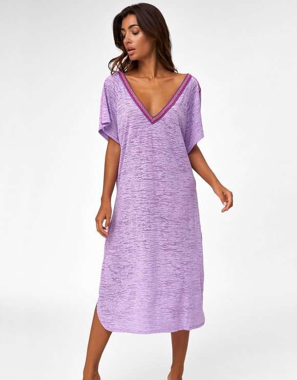 Pitusa V Back Dress - Lavender
